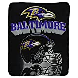 "Baltimore Ravens ""Shadow"" Lightweight Fleece Blanket (Measures Approx. 50"" x 60"")"