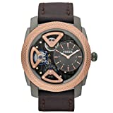 Fossil Men's Quartz Watch Mechanical Twist ME1122 with Leather Strap