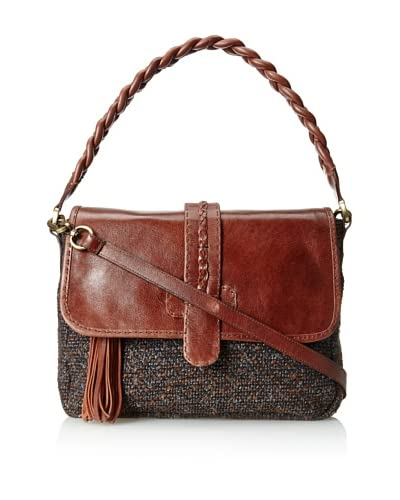Carla Mancini Women's Fay Shoulder Bag, Brown Tweed