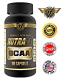 NUTRAFX SPORTS NUTRITION BCAA Amino Acids - Weight Loss, Build Lean Muscle Mass and Muscle Recovery Supplement, 3000 mg, 180 Capsules