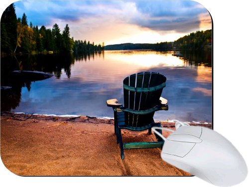 Rikki Knighttm Wooden Chair At Sunset Lightning Series Gaming Mouse Pad front-608666