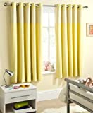 Yellow 46x 54 Gingham Baby Bedroom Curtains Thermal Backed Thermal Backed Eyelet Top Heading Readymade Blockout Curtain