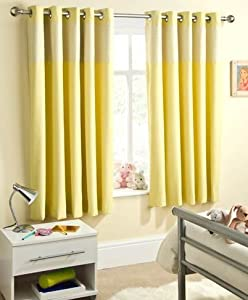 Sheer Curtains Grommet Top Yellow Curtains for Kitchen
