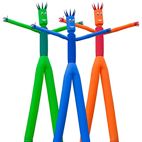 Inflatable HQ 26 ft. Tall 2-Legged Air Inflatable Dancer Tube Puppet - Blue (Air Dancer 2 Fans compare prices)