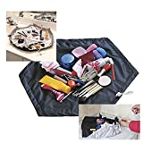 2 In 1 Travel Cosmetic Makeup Bag Work Mat Pouch Case Storage Organizer Large !