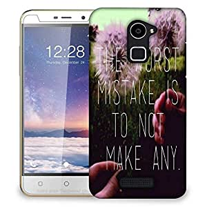 Snoogg Worst Mistake Designer Protective Back Case Cover For Coolpad Note 3 Lite