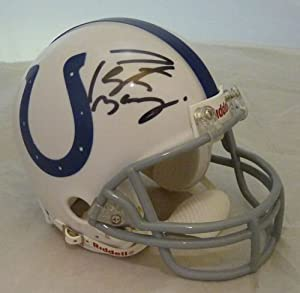 Peyton Manning Autographed Indianapolis Colts Riddell Mini Helmet by DenverAutographs