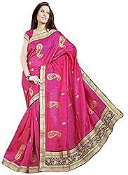 LolyDoll Women's Cotton Saree SR10_Red