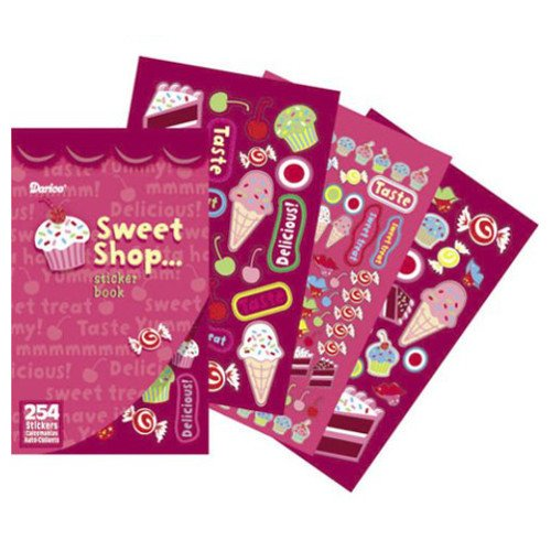 WeGlow International Sweet Shop Sticker Books (4 Books)