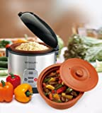 VitaClay VF77008 Chef Gourmet 8Cup Rice and Slow Cooker