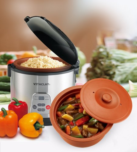 Vitaclay Vf7700-8 Chef Gourmet 8-Cup Rice And Slow Cooker front-592011