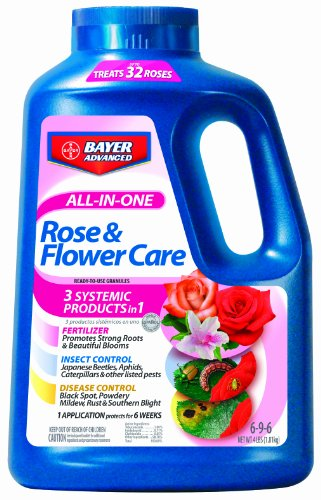 Bayer Advanced 701110 All in One Rose and Flower Care Granules, 4-Pound