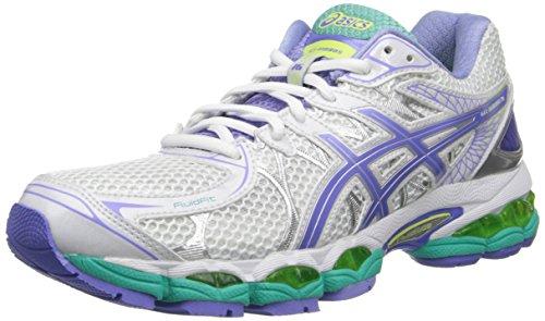 ASICS Women's GEL-Nimbus 16 (2A) Running Shoe,White/Periwinkle/Mint,10 2A US