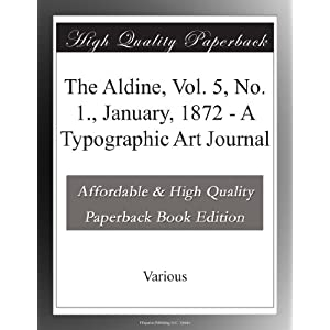 1   january  1872   a typographic art journal  various    books