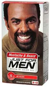 buy just for men brush in color gel mustache beard jet black m 60 online at low prices in. Black Bedroom Furniture Sets. Home Design Ideas