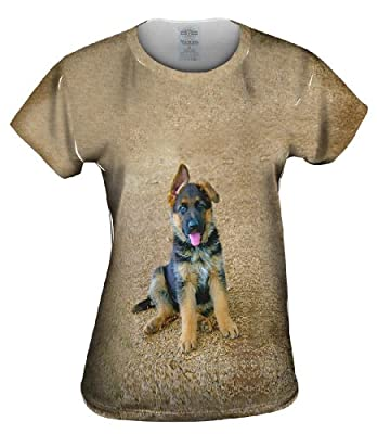 Yizzam Women's AnimalShirtsUSA- German Shepherd Puppy -Tagless T-Shirt