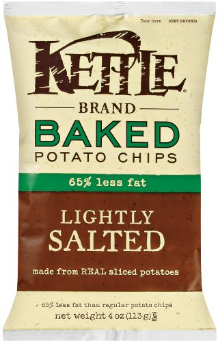 Kettle Baked Potato Chips, Sea Salt, 4-Ounce Bags (Pack of 15)