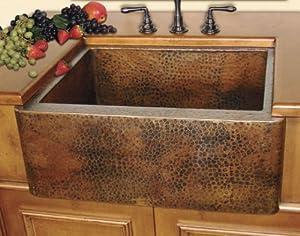 30x22 Mexican Copper Apron Kitchen Sink