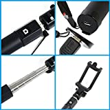Selfie Stick For The Best Self Portraits from BiTek,Offers Great Grip Holding,Extendable Pole To Desired Length,Built-In Bluetooth Shutter,Adjustable Phone Holder,For I-Phone,Samsung Android Smart Phones,Comes In Sleek Color,Take The Best Selfie Today!