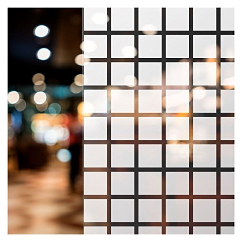 "BDF BBL Window Film Bold Block Decorative (1 3/8 Inch White Squares) - 60"" X 25ft"