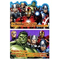 Avengers Assemble Birthday Party Invitations & Thank You (8ea) by Hallmark Party