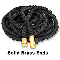 Retail Package 50' Expanding Hose, Strongest Expandable Garden Hose on the Planet. Solid Brass Ends, Double Latex Core, Extra Strength Fabric, 3/4