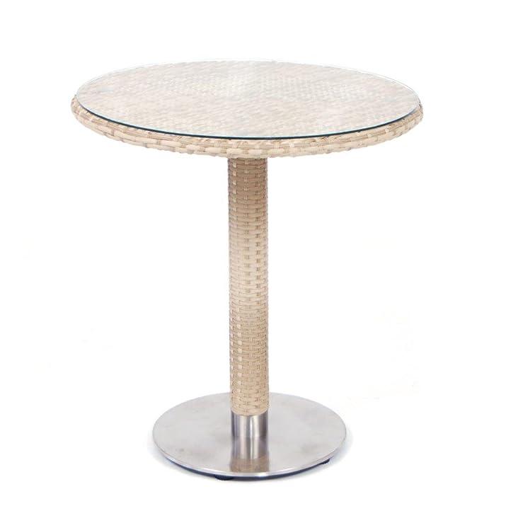 Tavolo in wicker con piano rotondo misura 70 cm colore NATURALE mod. Minorca