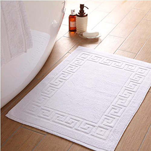 Linenwalas Super Absorbent Terry Bath Mat - White