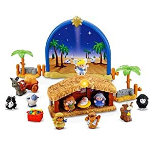 Amazon.com: Fisher Price Little People Nativity Set with ...