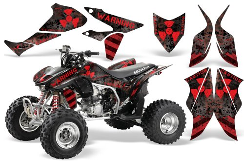 2004-2015-Honda-TRX450R-AMRRACING-ATV-Graphics-Decal-Kit-Meltdown-Red-Black
