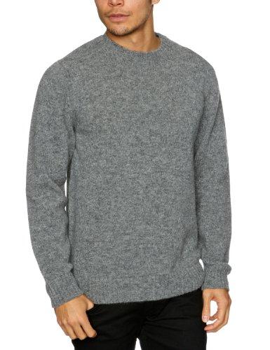 Alan Paine Kinnadie Long Sleeve Men's Jumper Flannel Grey C48IN