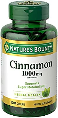 Nature's Bounty Cinnamon 1000Mg, 100 Capsules (Pack Of 3) by Nature's Bounty