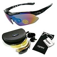 (フェリー) FERRY 偏光レンズ スポーツサングラス フルセット専用交換レンズ5枚 ユニセックス 4カラー