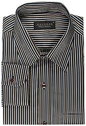 Koutons Men's Formal Shirt (HD-102--40, Black, 40)