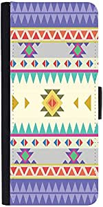 Snoogg Aztec Pattern Purple Graphic Snap On Hard Back Leather + Pc Flip Cover...
