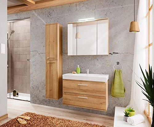 Armadietto a specchio 'Lauren SP' bagno specchio mobile da bagno specchio Riviera Rovere, Breite 80cm