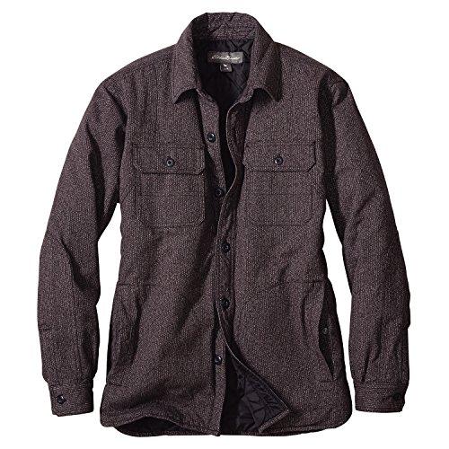 (エディー・バウアー) Eddie Bauer 長袖ヘビークロスインサレートシャツジャケット(サーモライト(R)インサレーション付き)(カーボン L)