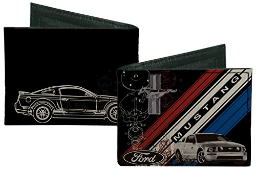ford-automobile-company-mustang-collage-bi-fold-wallet