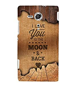I Love You Message 3D Hard Polycarbonate Designer Back Case Cover for Sony Xperia SP :: Sony Xperia SP M35h