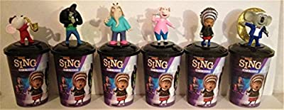 Sing Movie Theater Exclusive Cup Topper Set With 12 oz Cups