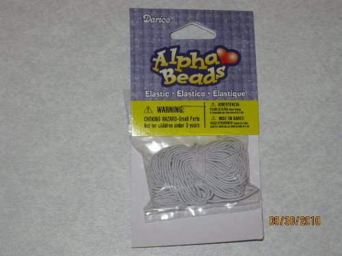 Elastic Cord - White - 10 yards