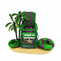Hermit Crab Cage Decoration with Dishes: Life Guard Chair