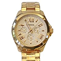Fossil AM4511 Ladies Cecile Chronograph Rose Gold Steel Bracelet Watch