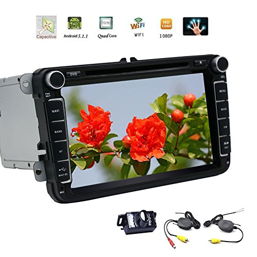 EinCar Android 5.1.1 Lollipop Car Stereo Quad Core 7''2 Din Car Radio Receiver HD DVD GPS Navigation for Jetta/golf/Passat Support Bluetooth/Steering Wheel Control/1080P/Mirror Link/Wireless Camera (2013 Jetta Bluetooth Module compare prices)