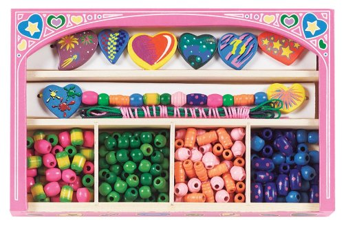 Melissa & Doug Sweet Hearts Wooden Bead Set - 1