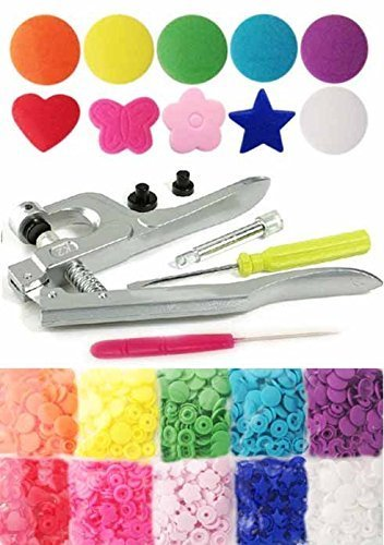 Best Buy! KAMsnaps® Starter Kit: 100 Size 20 T5 (1/2) Round Heart Star Butterfly Flower Rainbow KA...