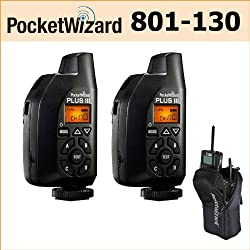 2 Pocket Wizard Plus III Transceiver - 801-130 + Accessory Kit