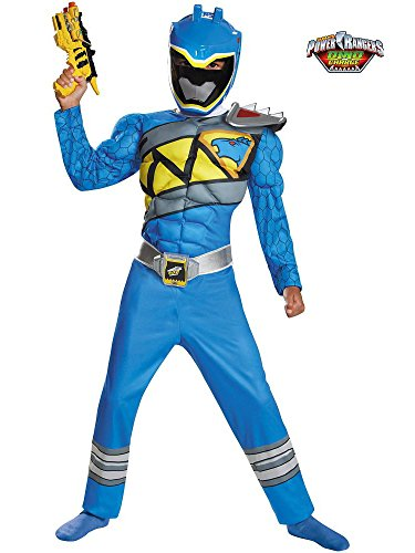 Disguise Blue Ranger Dino Charge Classic Muscle Costume