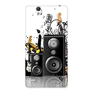 Delighted Music Comp Multicolor Back Case Cover for Sony Xperia C4