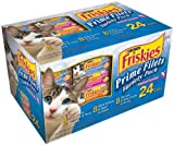 Friskies Prime Filets Seafood Selections Variety Pack, Seafood, 5.5-Ounce Cans Pack of 24